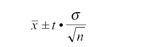 95% confidence interval  formula