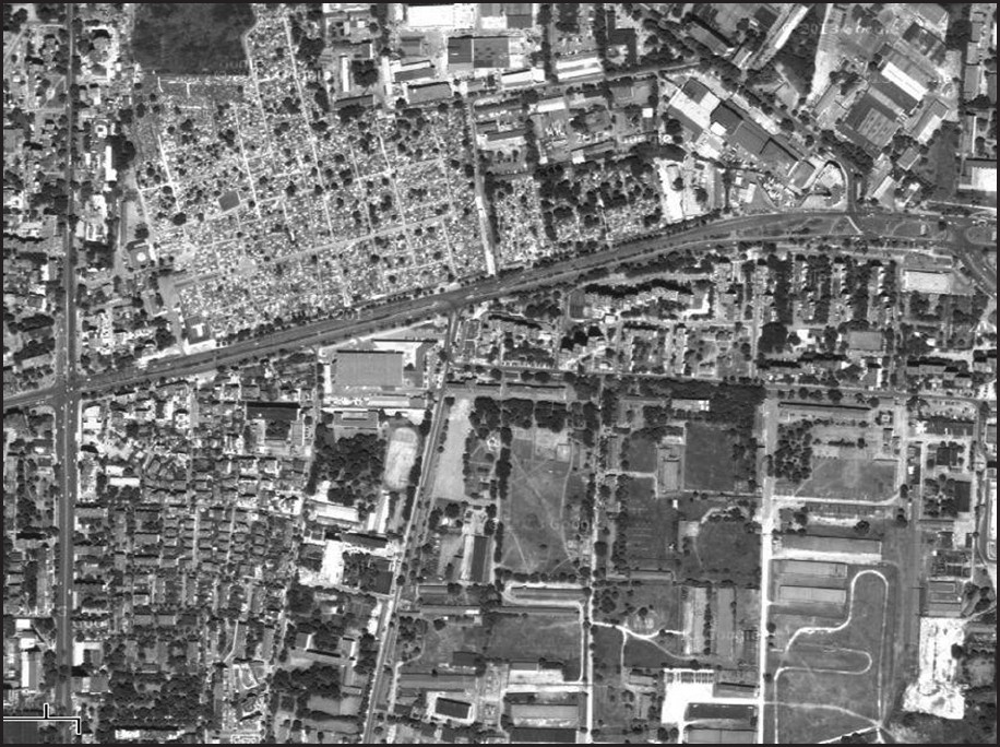 Figure 1: Satellite image of the neighborhood where the study was conducted